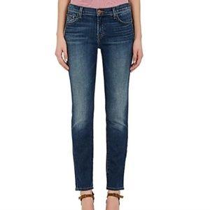 J Brand Mid Rise Cigarette Jeans